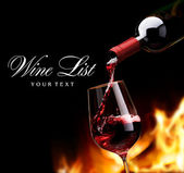 Art wine list design — Stock Photo
