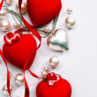 Art Design a greeting card with love heart Happy Valentine Day — ストック写真
