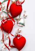 Art Design a greeting card with love heart Happy Valentine Day — Stock Photo