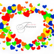 Art colorful valentine day love hearts on a white background — Stock Photo
