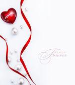 Diseño de arte una tarjeta de felicitación con amor corazón feliz san valentín — Foto de Stock