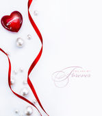 Kunst design een wenskaart met de dag van de gelukkige valentijnskaart van liefde hart — Stockfoto