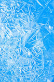 Abstract blue winter background, the frozen ice texture — Foto de Stock