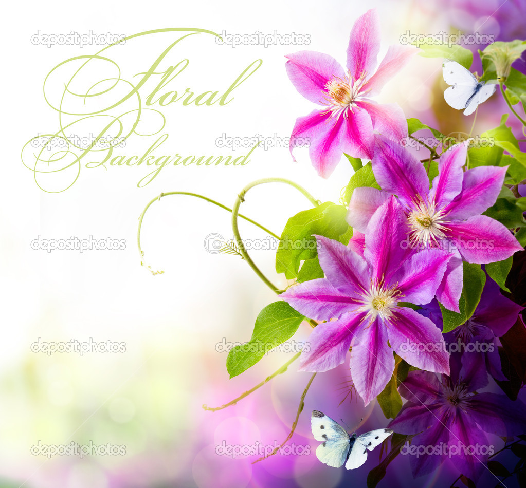 Abstract spring floral background  Stock Photo #9259333