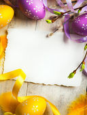 Art Easter background with Easter eggs — Fotografia Stock