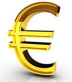 Golden Euro symbol — Stock Photo