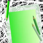 Abstracte achtergrond met potloden — Stockvector