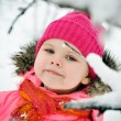 Little girl in winter portrait — Stock Photo