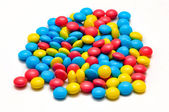 Closeup shot of colorful candies — Stock Photo