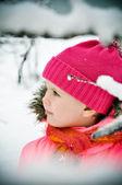 Niña en retrato de invierno — Foto de Stock
