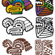 Mayan glyphs - Stock Vector