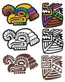 Mayan glyphs — Stock Vector