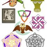 Assorted ornaments — Stock Vector