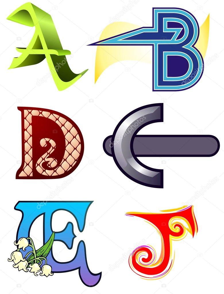 Буквы В Разных Стилях
