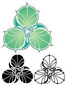 Art Nouveau Lily pads — Stock Vector