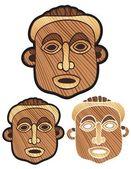 Wooden Mask — Stock Vector