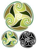 Earth Goddess Emblem — Stock Vector