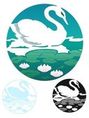 Swan emblem — Stock Vector