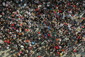 Crowd from bird´s view — Stock Photo
