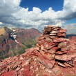 Stock Photo: Mount Sinopah Summit - Glacier Park