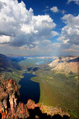Two Medicine Lake from Mount Sinopah — Stock Photo