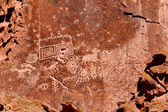 Fremont Indian State Park Petroglyphs — Stock Photo