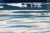 Glacial Meltwater from Grinnell Glacier — Stock Photo