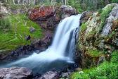 Moose Falls Yellowstone National Park — Stock Photo