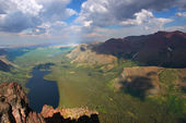Two Medicine Lake - Glacier Park — Stock Photo