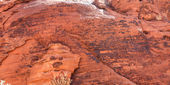 Petroglyphs at Valley of Fire Park — Stock Photo