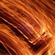 Stock Photo: Streaks of flame