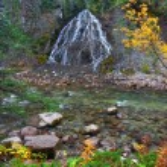 Fan Falls - Jasper National Park — Stock Photo #8294596