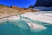 Grinnell ledovec rybník - montana — Stock fotografie