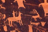 Polowanie petroglyph - gazeta rock — Zdjęcie stockowe