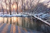Kishwaukee River Sunset — Stock Photo
