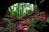 Natural Rock Bridge Alabama — Stock Photo
