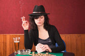 Smoking and drinking — Foto Stock