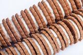 クリーム満たされたクッキー — ストック写真