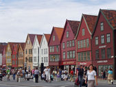 Typical Hanseatic Houses in Bergen, Norway — Stock Photo