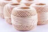 Beige skein of yarn — Stock Photo