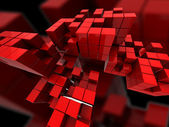 Abstract red cubes — Stock Photo