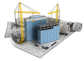 Building design concept — Stock Photo
