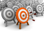 Right target — Stock Photo