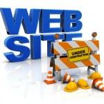 Web site construction — Stock Photo