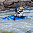 Man Kayinging Rapids — Stock Photo