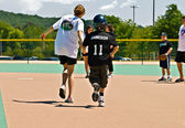 Miracle League Softball Player and Volunteer — Stock Photo