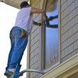 Professional Window Cleaner - Stock Photo