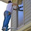 Professional Window Cleaner — Stock Photo
