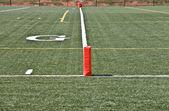 Football Goal Line — Stock Photo