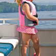 Cute Girl on Boat — Stock Photo #10391437